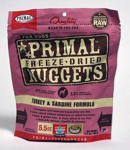 Primal Dog Freeze-Dried Turkey & Sardine Nuggets 5.5oz