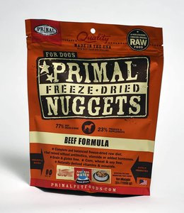 Primal Dog Freeze-Dried Beef Nuggets 14oz