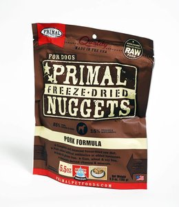 Primal Dog Freeze-Dried Pork Nuggets 5.5oz