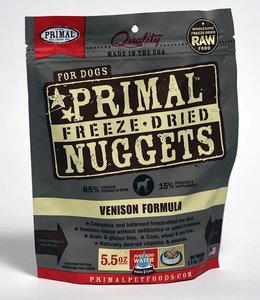 Primal Dog Freeze-Dried Venison Nuggets 5.5oz