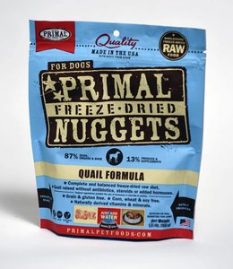 Primal Dog Freeze-Dried Quail Nuggets 14oz