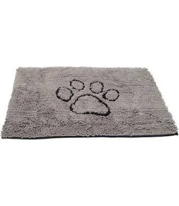 "Soggy Doggy Dirty Dog Doormat Grey Large 35""x26"""