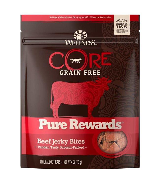 Wellness Core Pure Rewards Beef Jerky Bites 4oz