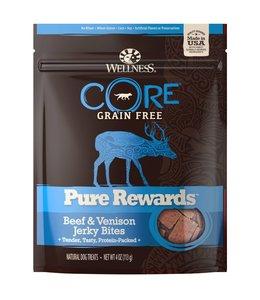 Wellness Core Pure Rewards Beef & Venison Jerky Bites 4oz