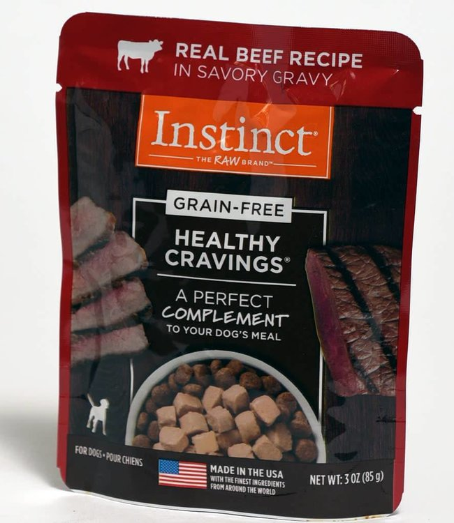 Instinct The Raw Brand Healthy Cravings Beef Pouch 3oz