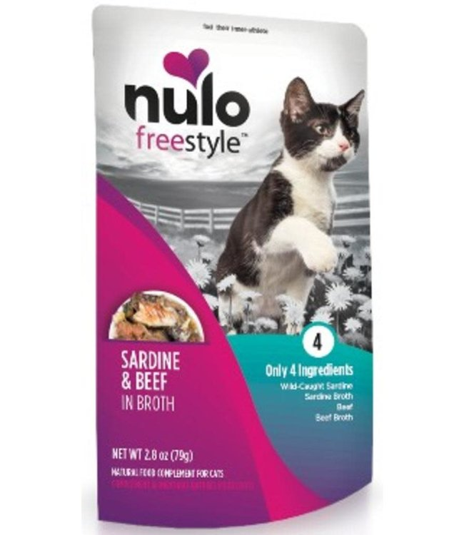Nulo Sardine & Beef in Broth Pouch