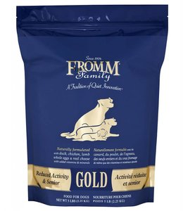 Fromm Dog Gold Reduced Activity & Senior 5lbs