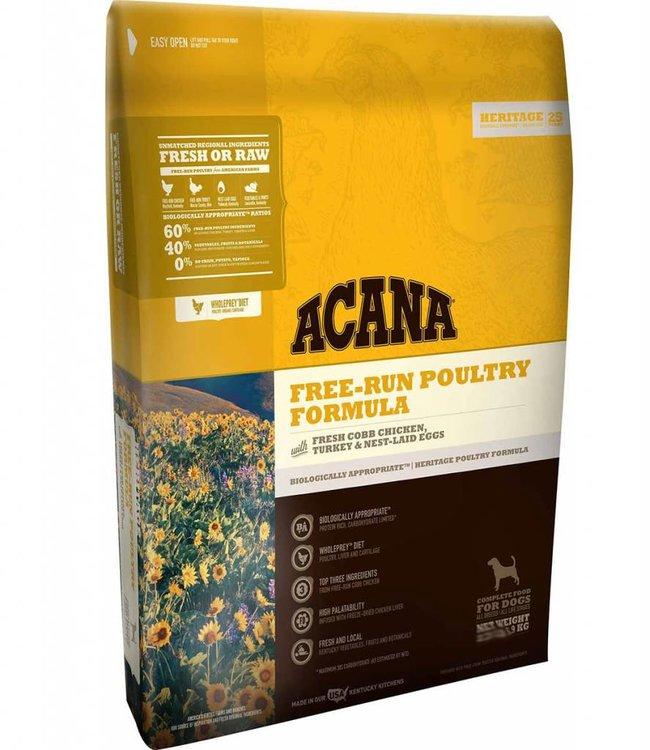 Acana Acana Dog Free -Run Poultry Formula Heritage 25lbs