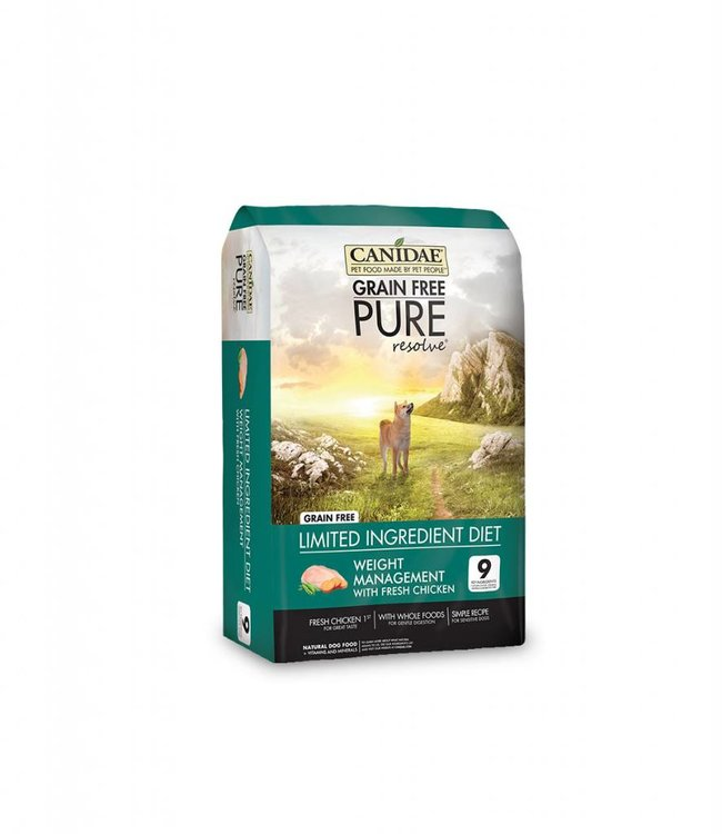 Canidae Dog Grain-Free Pure Resolve Weight Management  24lbs