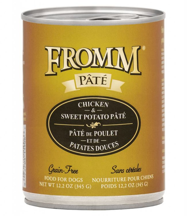 Fromm Fromm Dog Chicken & Sweet Potato Pate Grain-Free 12.2oz
