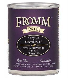Fromm Dog Venison & Lentil Pate Grain-Free 12.2oz