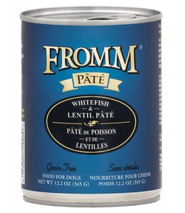 Fromm Dog Whitefish & Lentil Pate Grain-Free 12.2oz