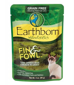 Earthborn Holistic Grain Free Fin and Fowl Cat Pouch 3oz
