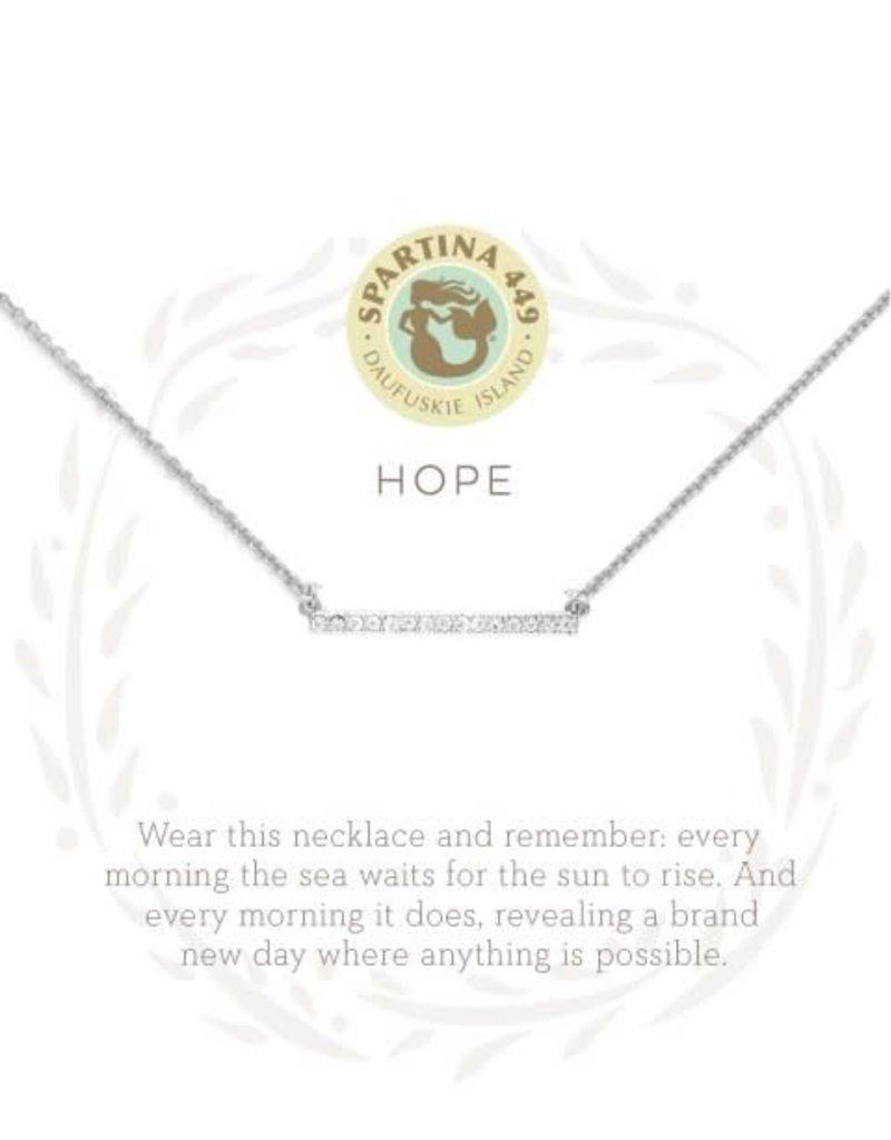 "Spartina 449 501644 SEA LA VIE NECKLACE 18"" HOPE/HORIZON SIL"