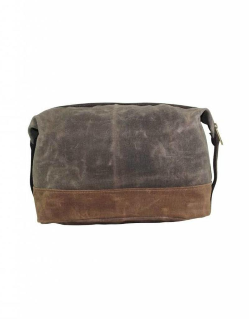 Waxed Top Zip Dopp Kit WM