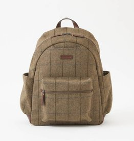 302-BRN Clark Backpack TWEED PLAID