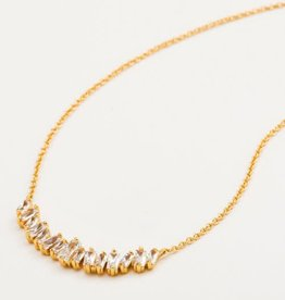 GORJANA 1611-101-02 -G Amara Necklace (white cz) (gold)