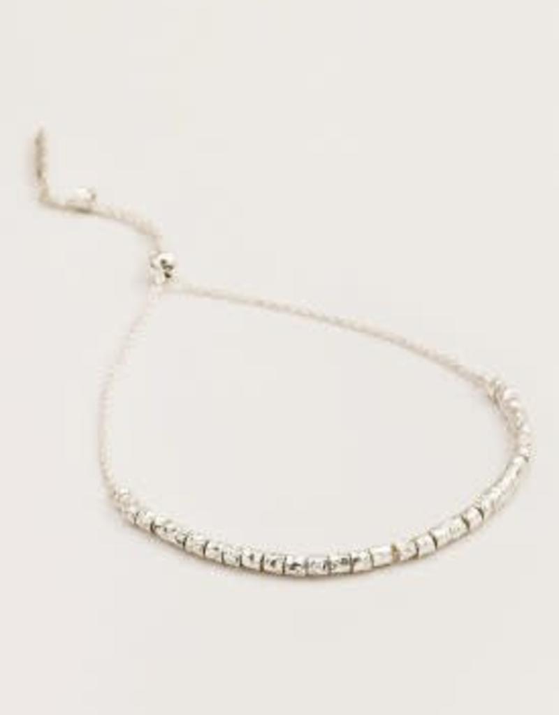 GORJANA 178-203-S Laguna Adjustable Bracelet (silver)