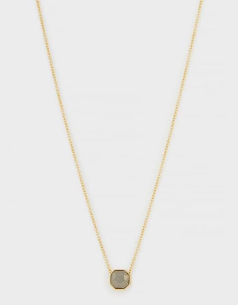 GORJANA 189-101-30- G-PKG Power Gemstone Charm Adjustable Necklace (pyrite) (gold) (envelope)
