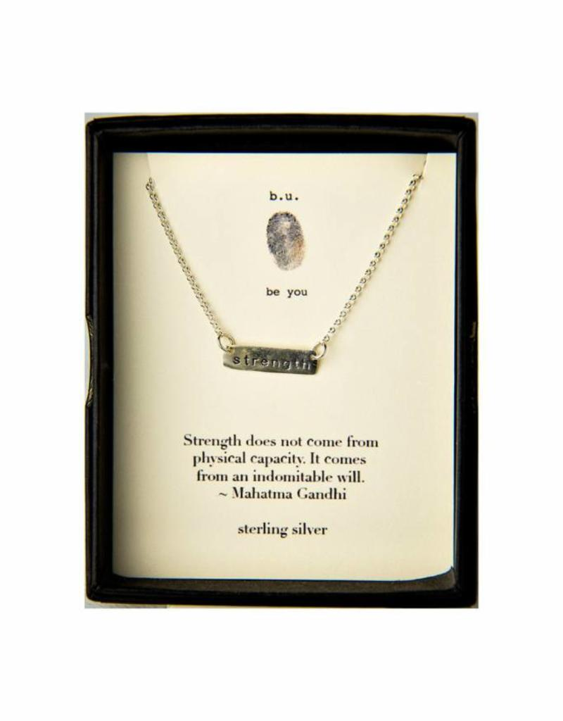 B U N370 strength necklace