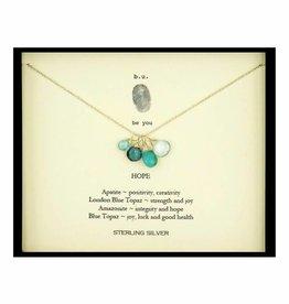 B U xcf8 hope silver necklace