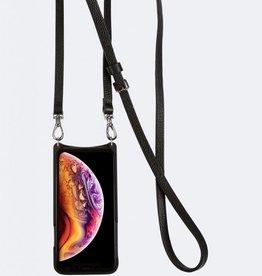 BANDOLIER Emma Pebble Leather Crossbody Bandolier - Black/Silver