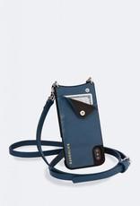 BANDOLIER Emma Pebble Leather Crossbody Bandolier - Sapphire/Silver