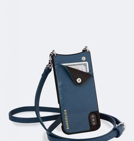 BANDOLIER Emma Pebble Leather Crossbody Bandolier - Sapphire/Silver