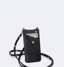 BANDOLIER Sarah Pebble Leather Crossbody Bandolier - Black/Silver
