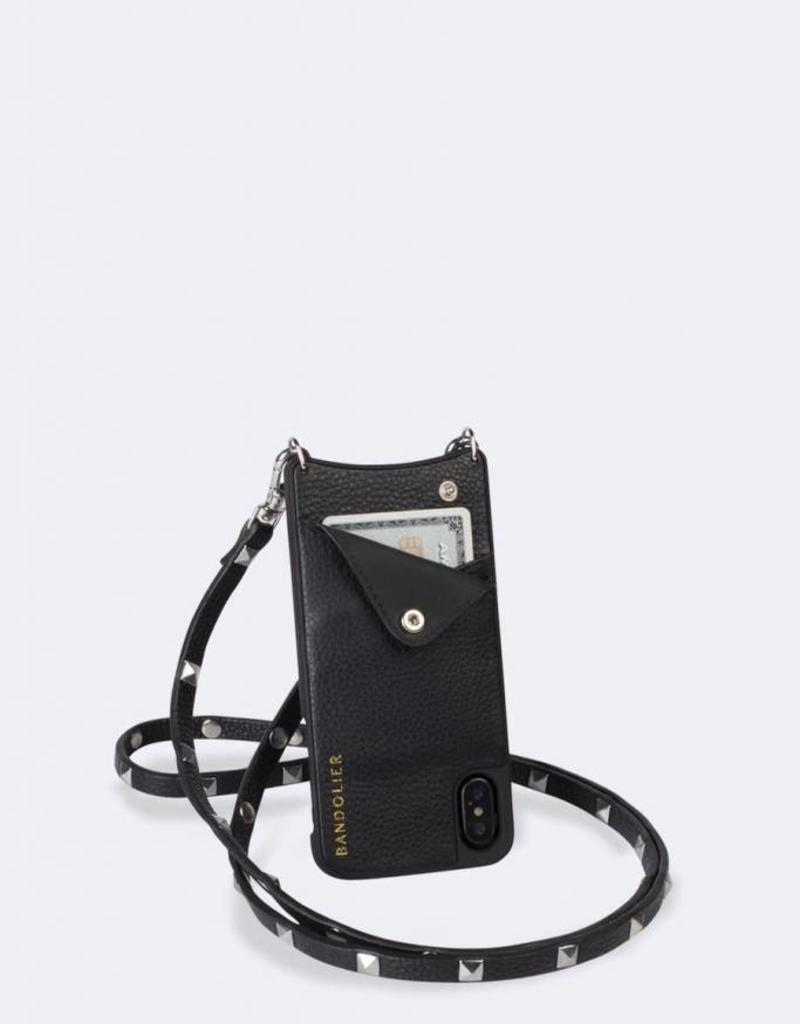 BANDOLIER Sarah Pebble Leather Crossbody Bandolier - Black/Silver