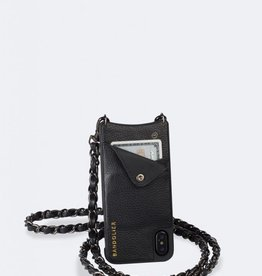 BANDOLIER Lucy Pebble Leather Crossbody Bandolier - Black/Pewter