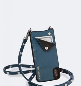 BANDOLIER Sarah Pebble Leather Crossbody Bandolier - Sapphire/Silver