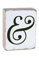 RUSTIC MARLIN Rustic Block Ampersand - White, Black, Wedding Font