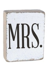 RUSTIC MARLIN Rustic Block Mrs. - White, Black, Wedding Font