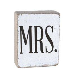 RUSTIC MARLIN Rustic Block Mrs. - White, Black, Wedding Font