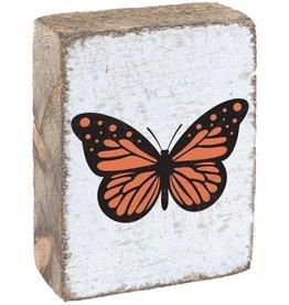 RUSTIC MARLIN Rustic Block Butterfly - White, Black, Orange