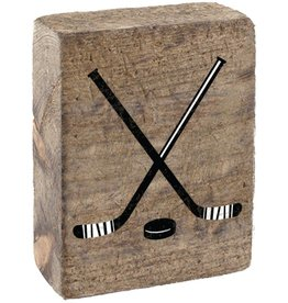 RUSTIC MARLIN Rustic Block Hockey Sticks - Natural, White, Black