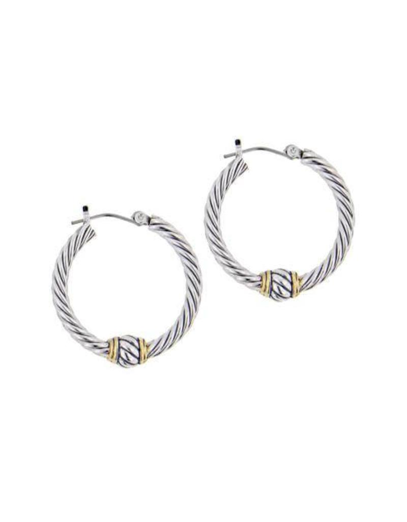 JOHN MEDEIROS G2936-A000 OVAL LINK SMALL TWISTED WIRE HOOP