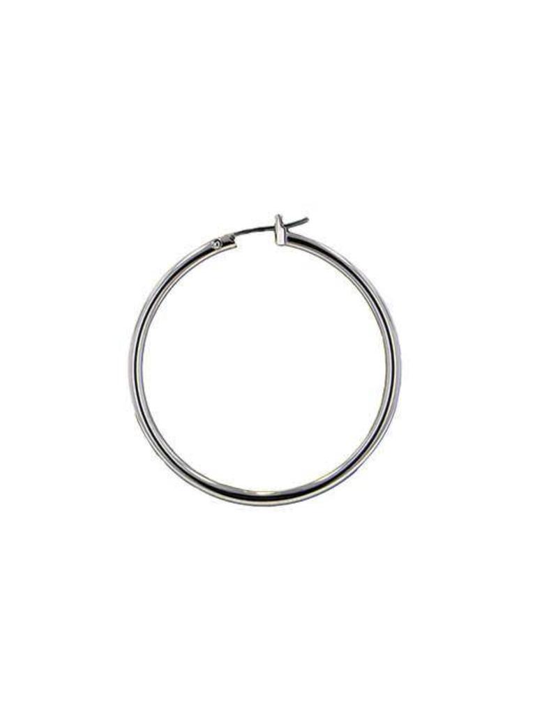 JOHN MEDEIROS G3227-R000 SPECIALTY RHOD SMALL HOOP EARRING
