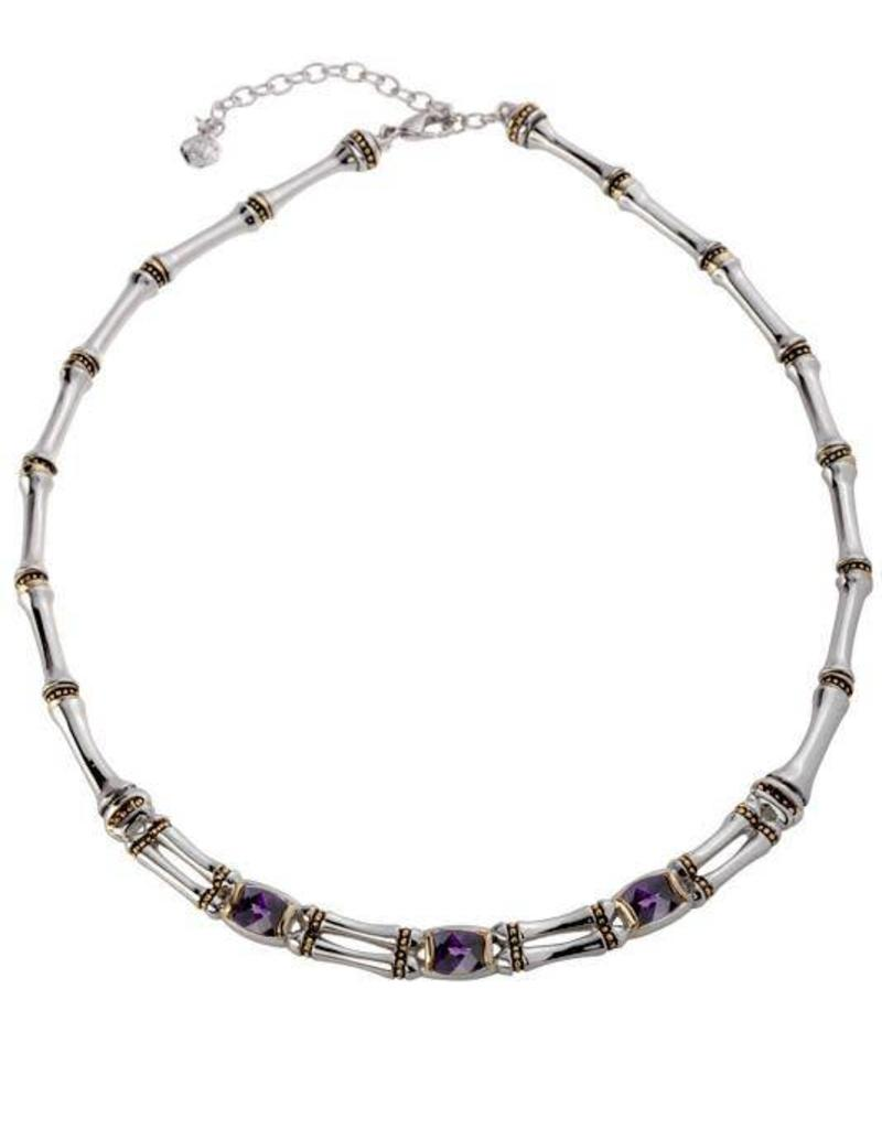 JOHN MEDEIROS N5038-A304 CANIAS COR 2 ROW CZ NECKLACE - AMY