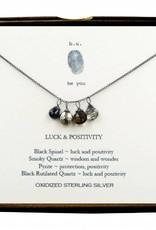 B U xcfb4 luck & positivity oxidized necklace