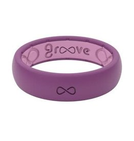 GROOVELIFE THIN SILICONE RING | LILAC