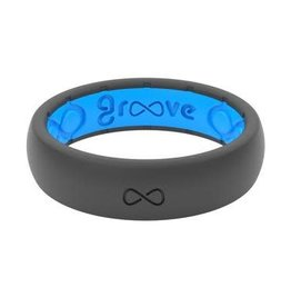 GROOVELIFE THIN SILICONE RING | DEEP STONE