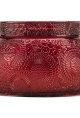 VOLUSPA 7261 Goji Tarocco Orange EMBOSSED GLASS CANDLE