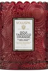 VOLUSPA 7201 Goji Tarocco Orange SCALLOPED CANDLEPOT