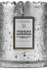 VOLUSPA 7205 YASHIOKA GARDENIA BOXED SCALLOPED CANDLEPOT