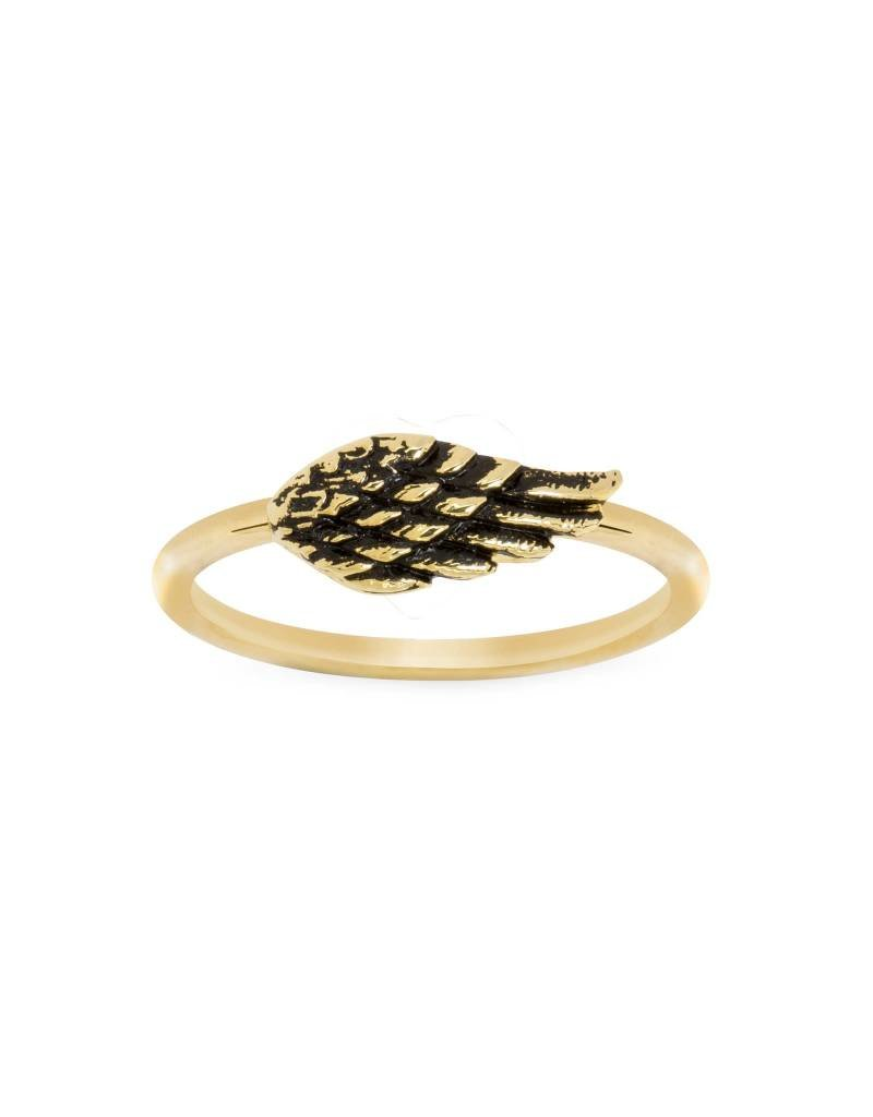 LUCA AND DANNI RG104G8 ANGEL WING RING GOLD SIZE8