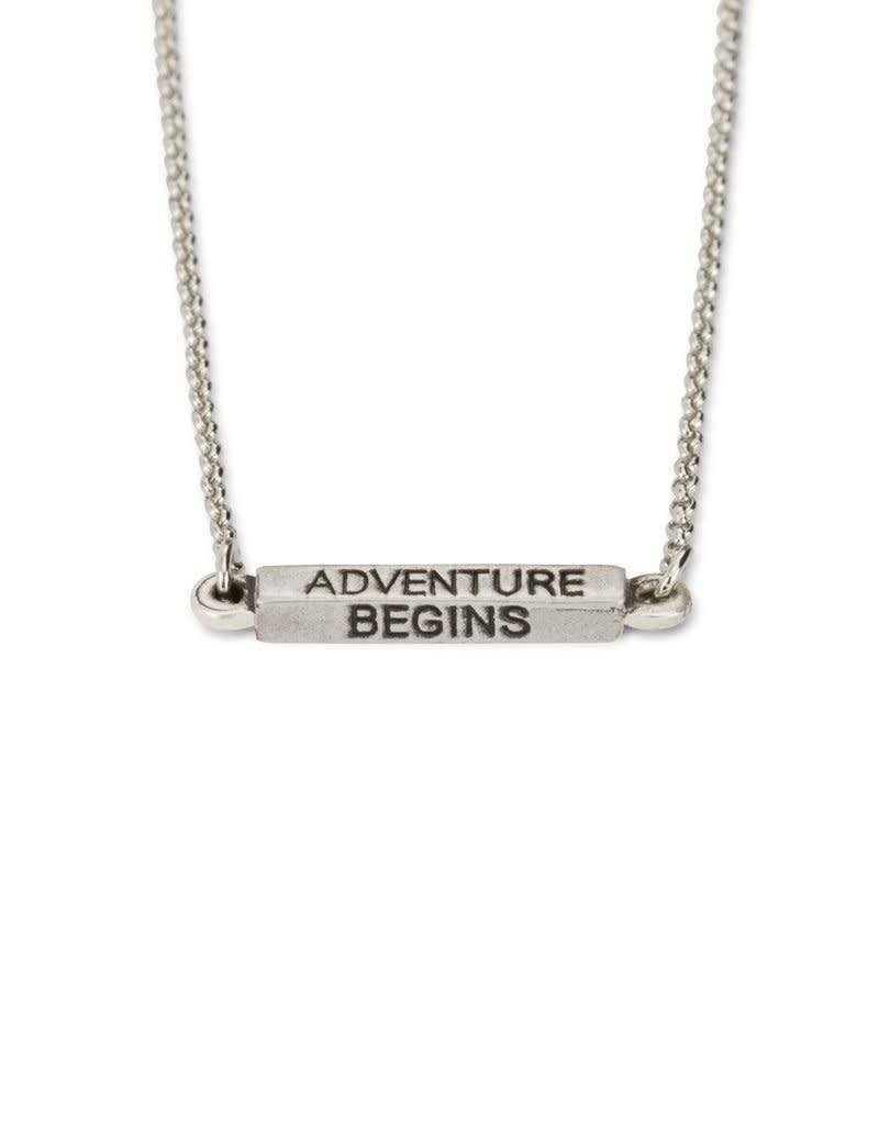LUCA AND DANNI NK200S ADVENTURE BEGINS NECKLACE SILVER TONE