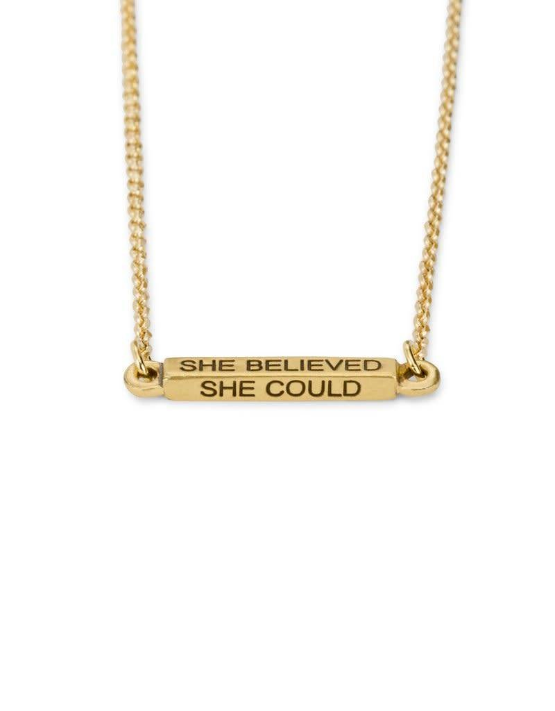 LUCA AND DANNI NK199S SHE BELIEVED NECKLACE SILVER TONE
