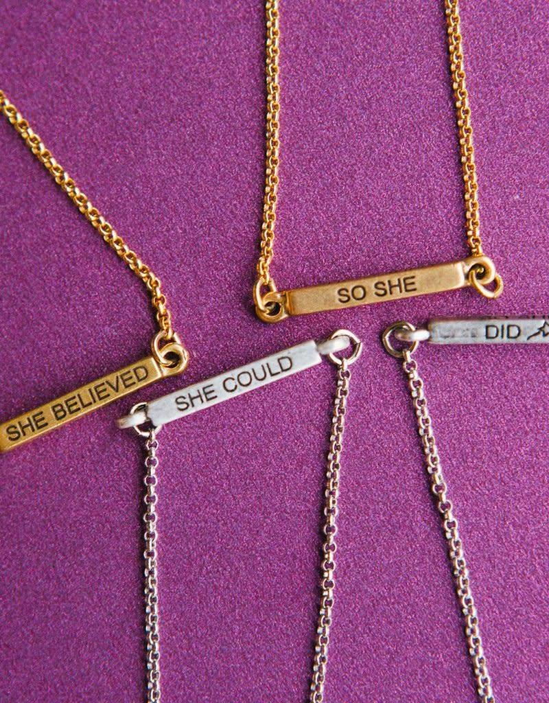 LUCA AND DANNI NK199G SHE BELIEVED NECKLACE GOLD TONE